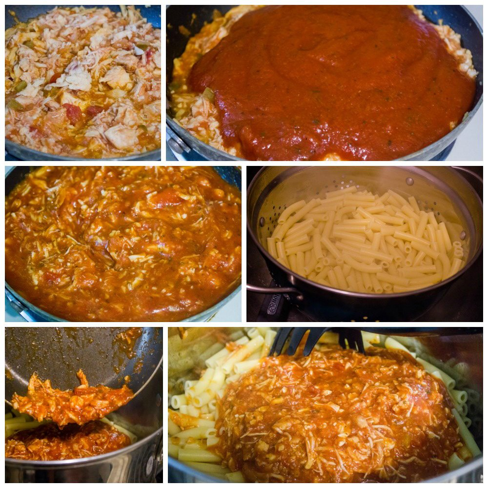Southwestern Spicy Chicken Ziti Pasta
