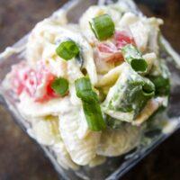 Avocado Bacon Loaded Pasta Salad