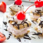 Banana Split Cheesecake Bites