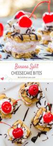 Banana Split Cheesecake Bites