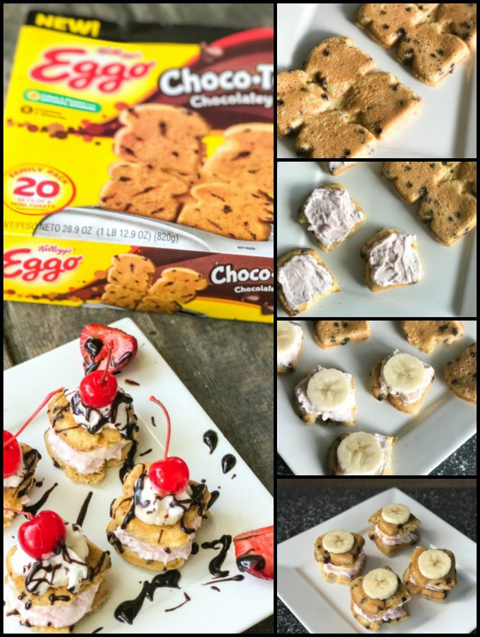 Banana Split Cheesecake Bites Step by Step