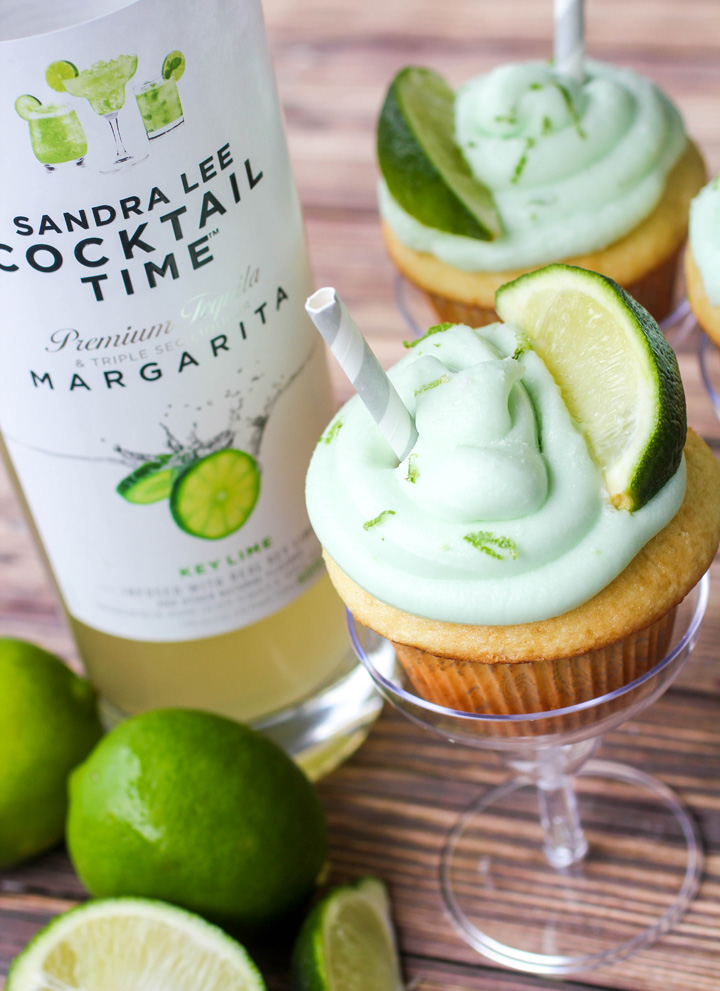 Key Lime Margarita Cupcakes with Key Lime Buttercream Frosting