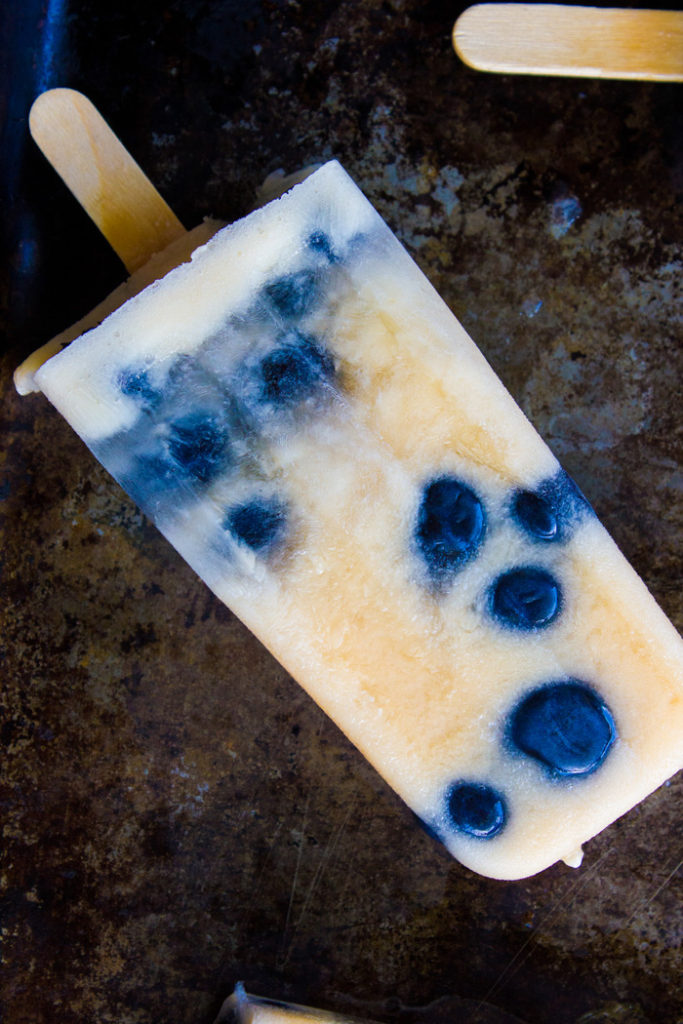 Mango Blueberry Popsicles