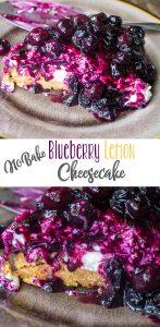 No Bake Blueberry Lemon Cheesecake