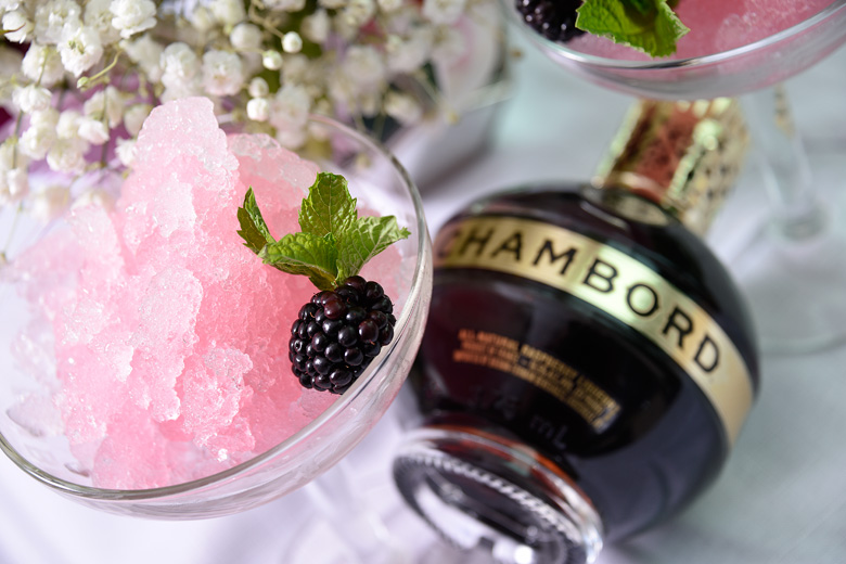 Blush Slush - Frozen Black Raspberry Cocktail to Beat the Heat