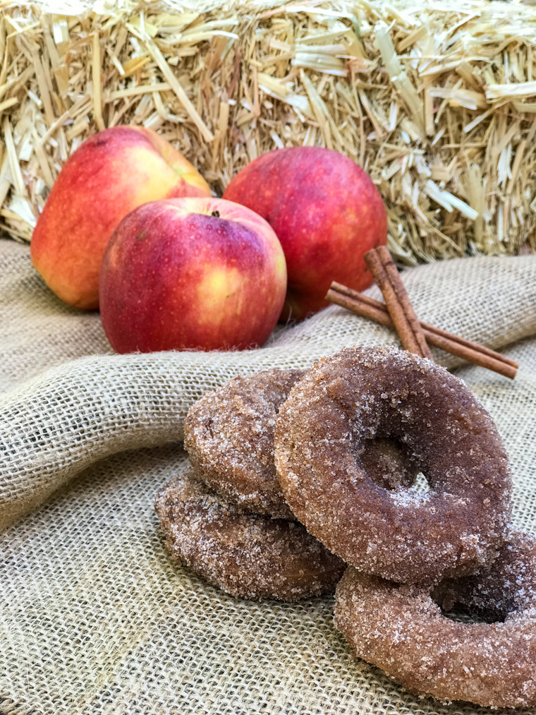 Cinnamon Apple Donuts