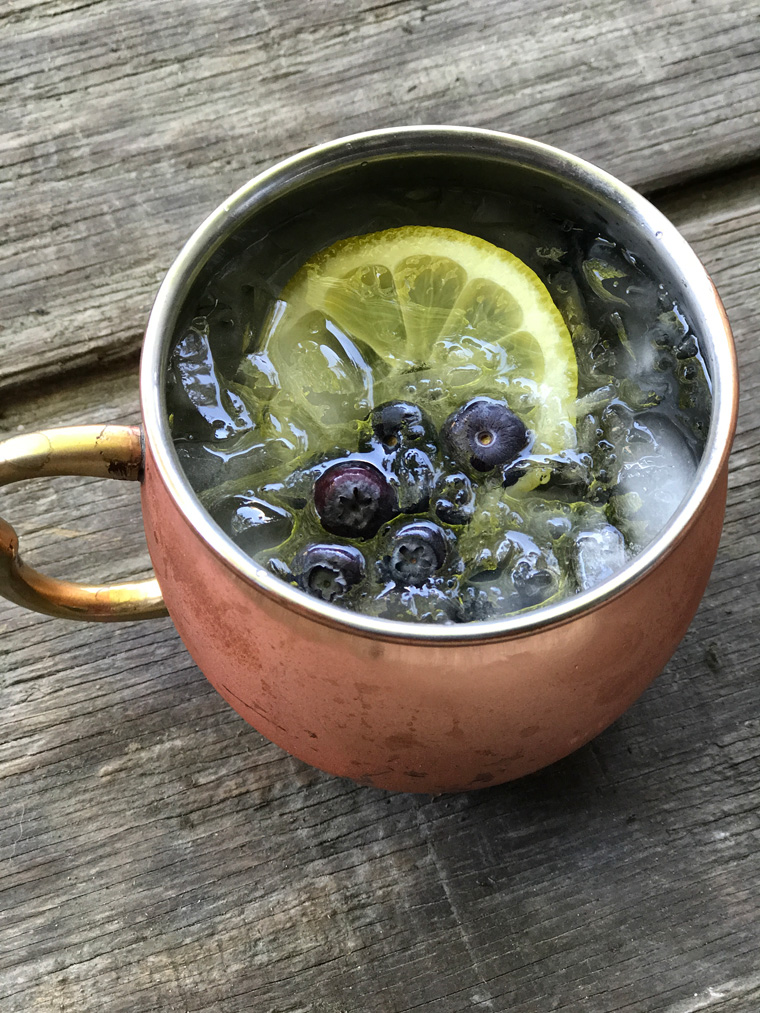 15 Summer Cocktails To Beat the Heat - Lemon Blueberry Moscow Mule