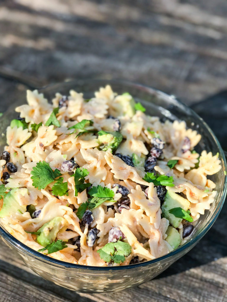 Spicy Ranch Black Bean Salad with Avocado Cilantro and Lime