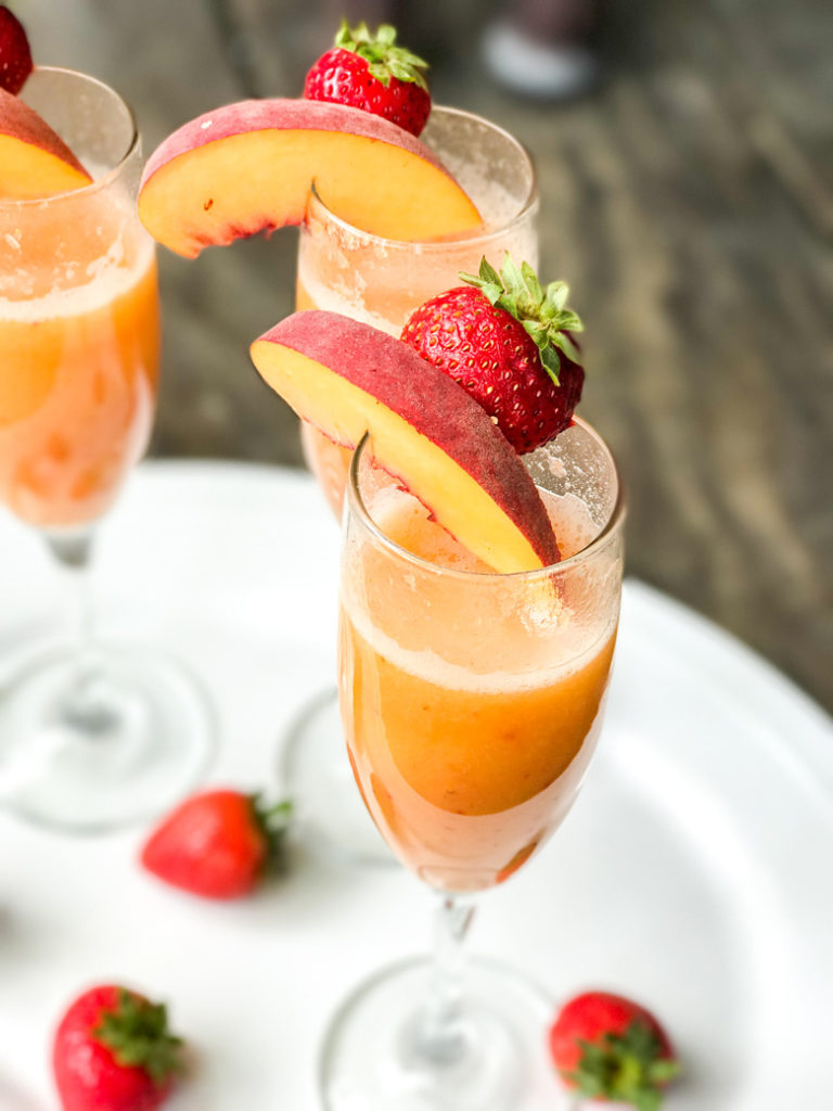 Strawberry Peach Bellini