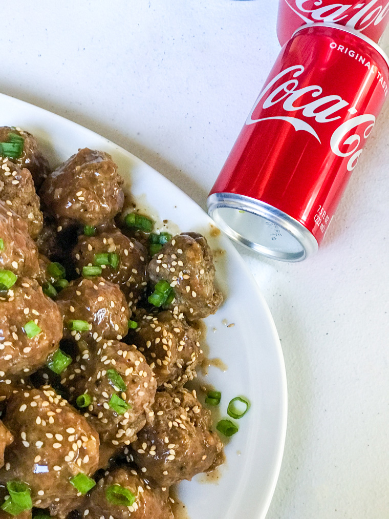 Beefy Coca Cola Meatballs with Coke