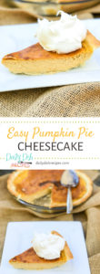 Easy Pumpkin Cheesecake Pie