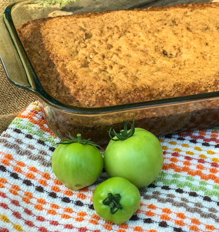 Green Tomato Spice Cake