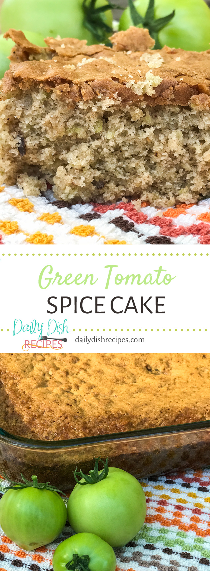 It isn't what it sounds like - it's an incredible slice of Fall, with a coffee cake texture and a delicious spiced flavor, this Green Tomato Spice Cake will be added to your fall recipes when you're in the mood for some fall baking!
