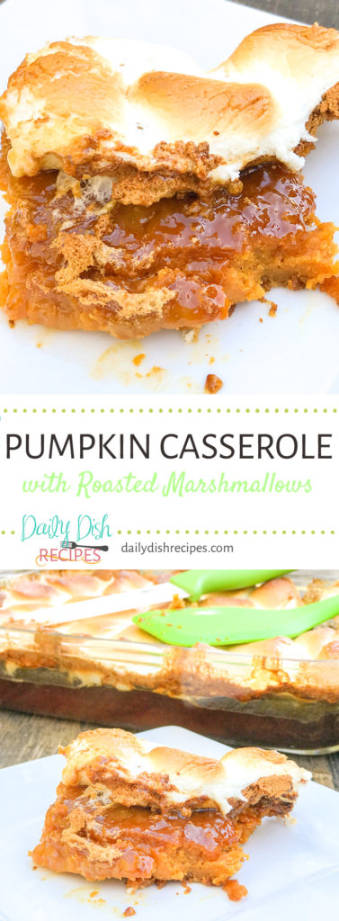 Pumpkin Casserole with Roasted Marshmallows