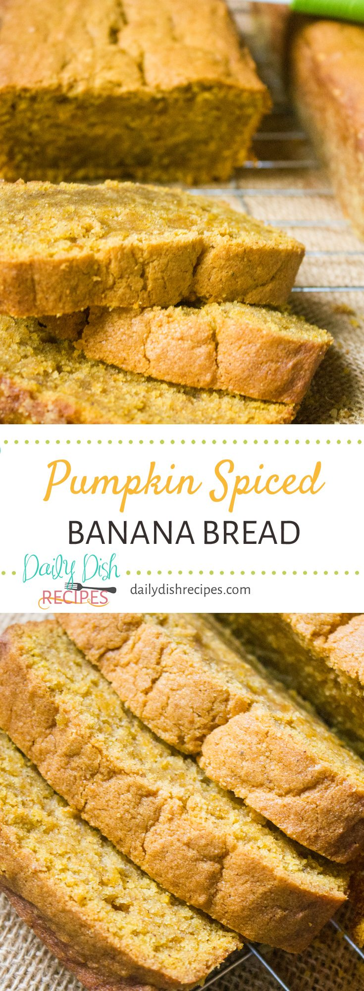 You probably have the perfect Banana Bread recipe, but do you have the perfect Pumpkin Spiced Banana Bread recipe? Now you do! Moist, spiced to perfection with great pumpkin and banana tastes... it's two of my favorite breads, in one!