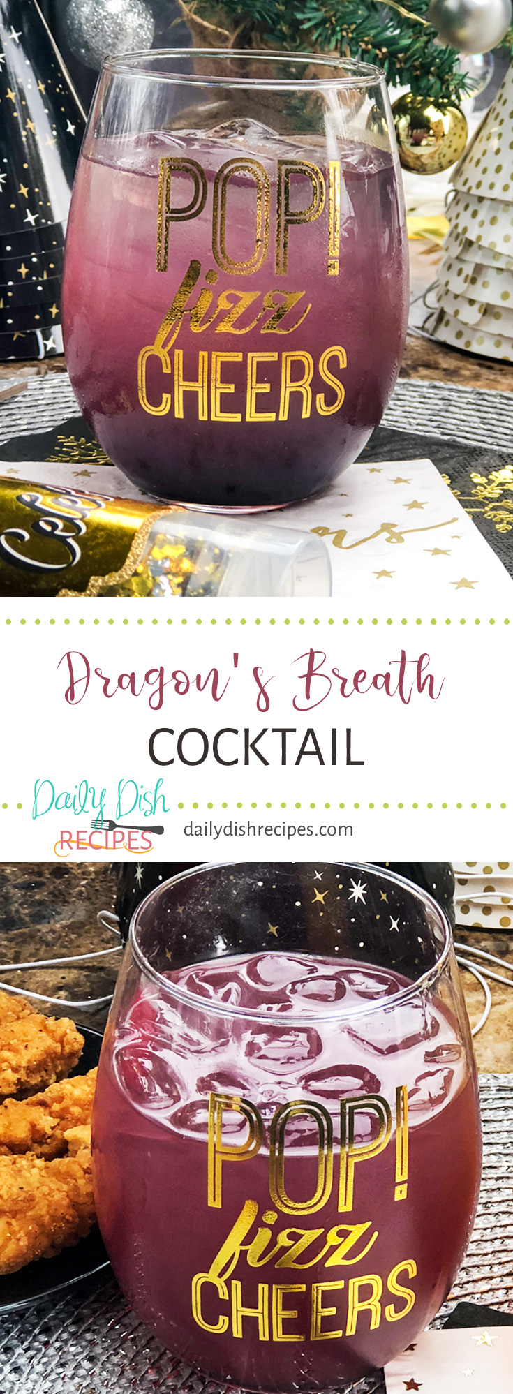 Fruity, delicious and gorgeous, this Dragon's Breath Cocktail is incredibly delicious and uses Dragonberry Rum, one of my favorites!