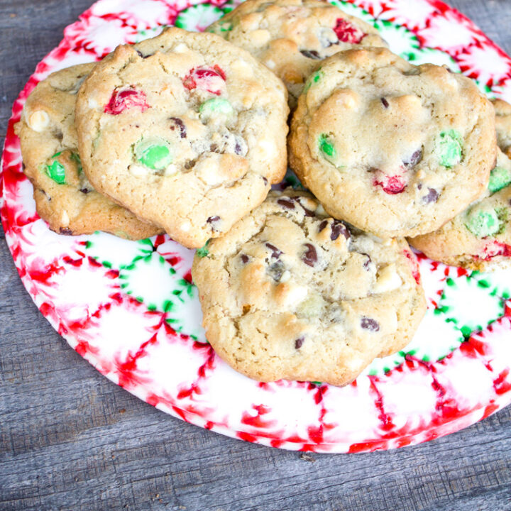 Loaded Festive Chocolate Chip Christmas Cookies