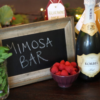 How To Set Up a Festive Mimosa Bar