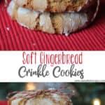 Soft Gingerbread Crinkle Cookies