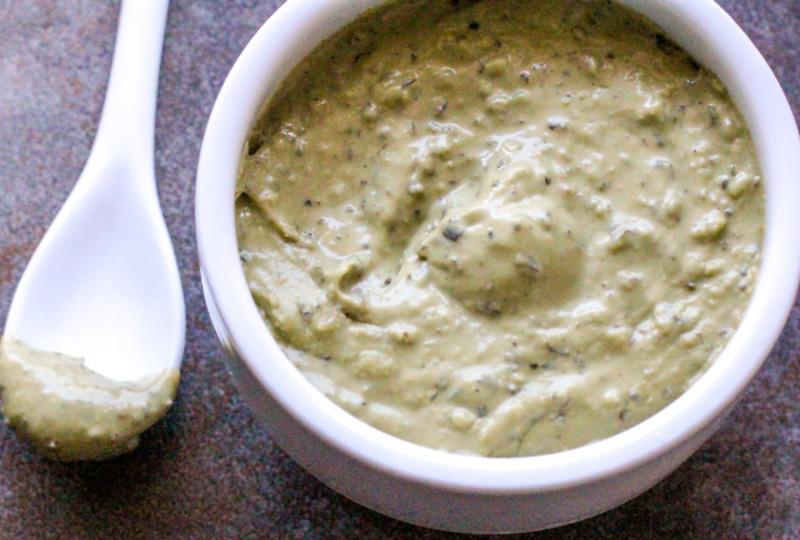 Creamy Herb Pesto Dip