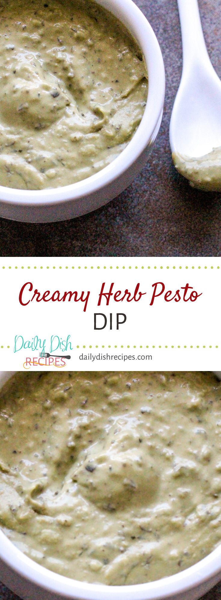 The perfect dip for any get together - this zesty, Creamy Herb Pesto Dip is great with chips, bread, veggies and more!