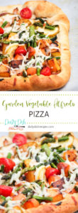 Garden Vegetable Alfredo Pizza