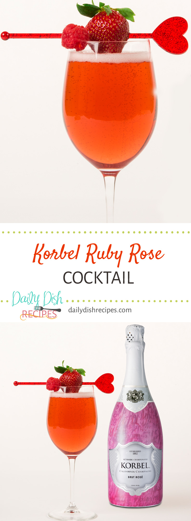 Korbel's Ruby Rose Cocktail - a flavorful berry cocktail - a little sweet, a little tart but oh so wonderfully refreshing and delicious!