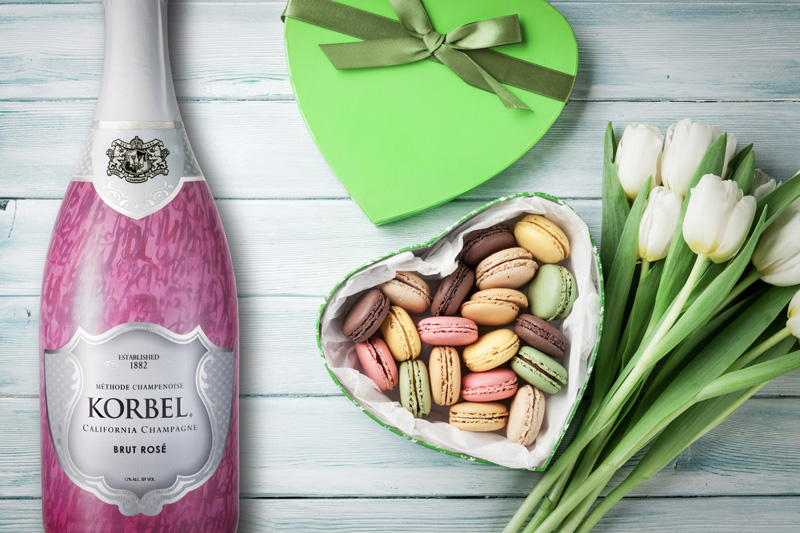 Valentine's Korbel Ruby Rose Cocktail