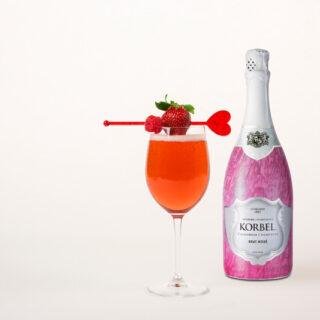 Valentine's Korbel Ruby Rose