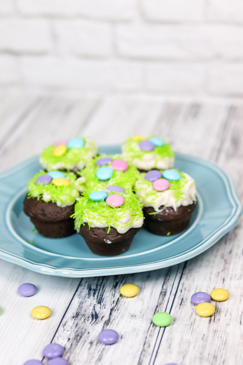 Easter Mini Chocolate Rum Cupcakes