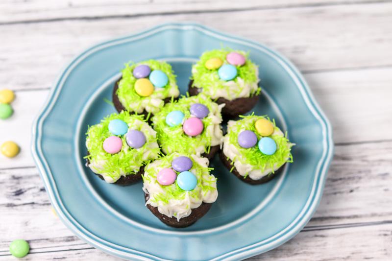 Easter Mini Chocolate Rum Cupcakes