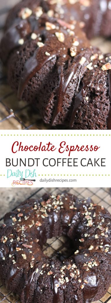 Chocolate Espresso Bundt Coffee Cake