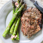 Asiago Garlic and Bacon Grilled Asparagus