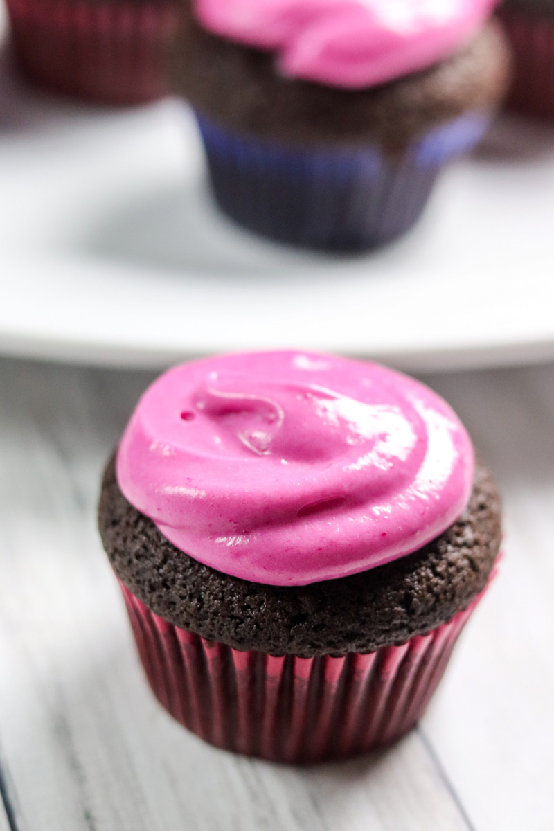 Chocolate Rum Beet Cupcakes with Beet Cream Cheese Frosting