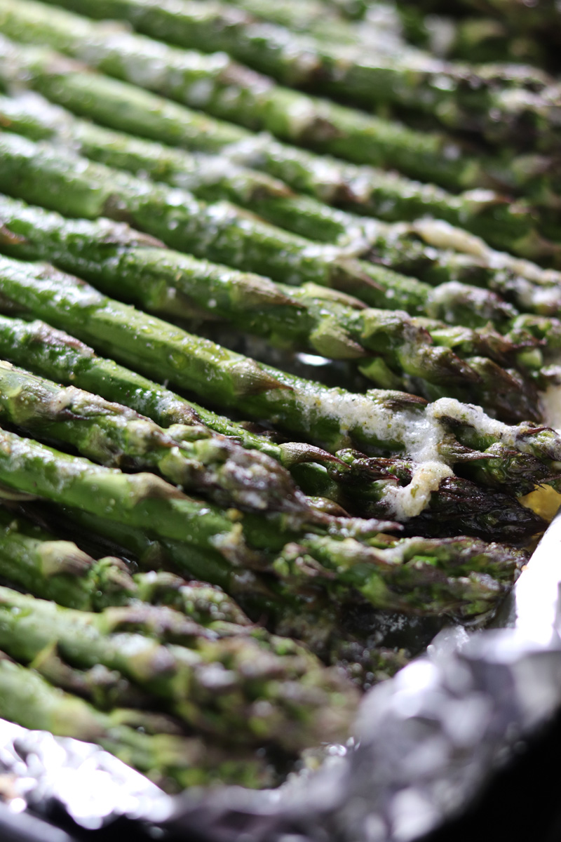 Grilled Lemon Pepper Butter Parmesan Asparagus