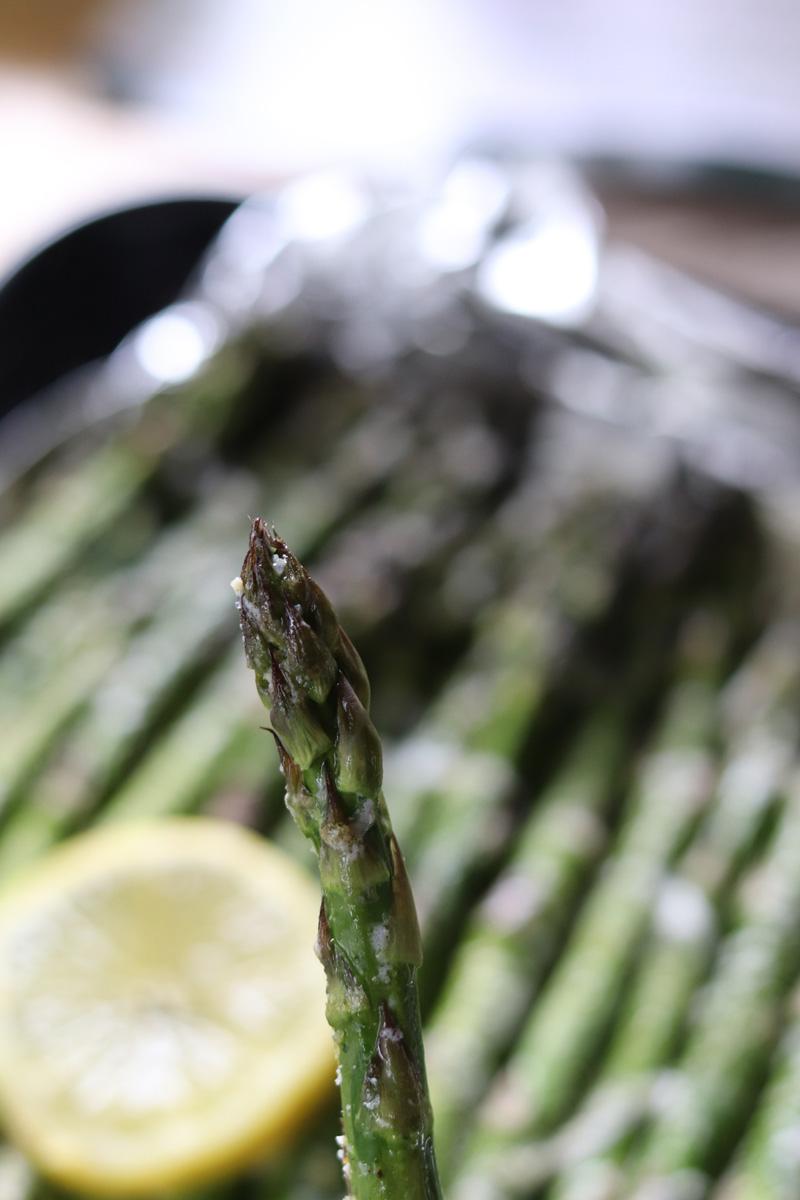 Grilled Lemon Pepper Butter Parmesan Asparagus