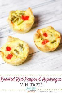 Roasted Red Pepper Asparagus Mini Tarts