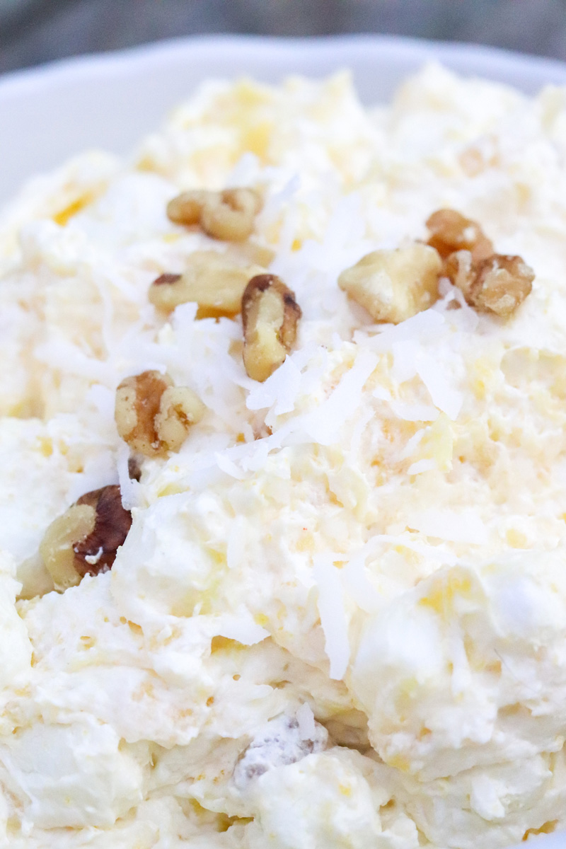 Pineapple Rum Coconut Fluff Salad