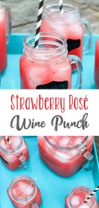 Strawberry Rose Wine Punch