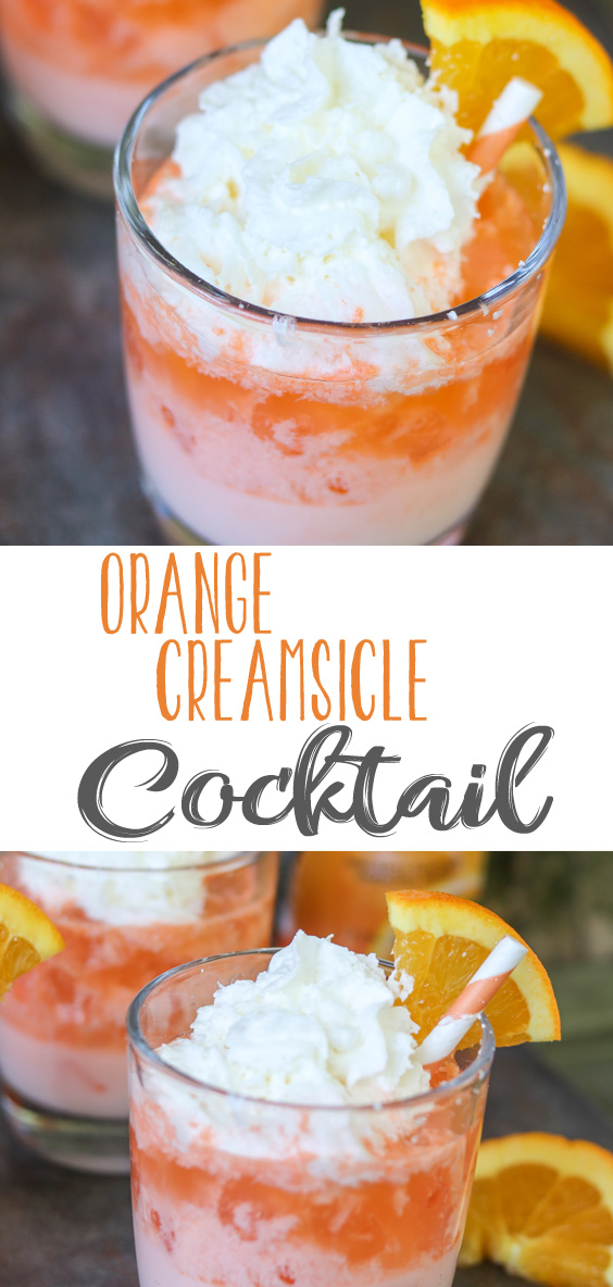 This Easy Orange Creamsicle Cocktail has the sweet, creamy, orange creamsicle flavor from the popular summertime treat. Served up in a delicious cocktail that you can make today to enjoy with friends, family or an after dinner drink anytime.