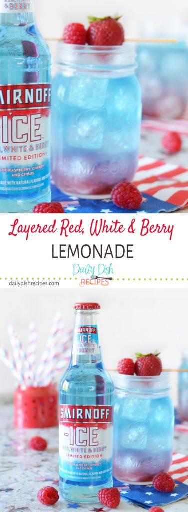 Layered Red, White & Berry Lemonade