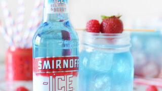 Layered Red White and Berry Lemonade