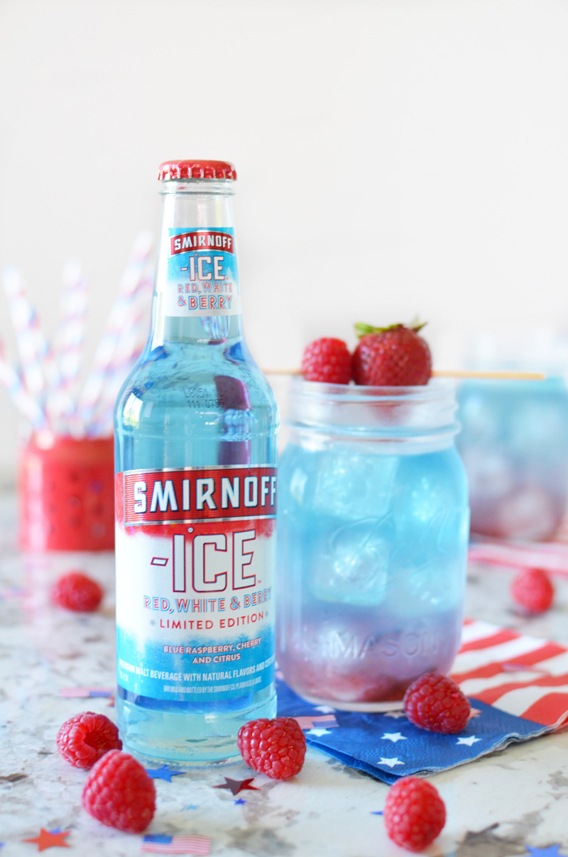 Layered Red, White & Berry Lemonade