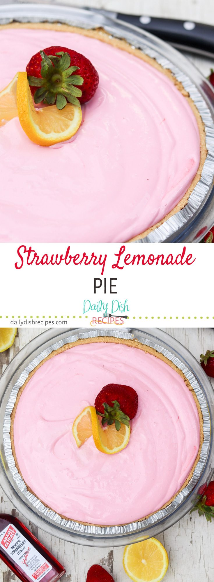 A cool, refreshing slice of Strawberry Lemonade Pie is the perfect ending to any summer meal. Tart and Sweet, smooth and creamy and so incredibly delicious!
