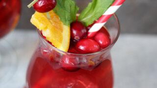Cranberry Raspberry Sparkling Spinner Cocktails