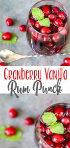 Cranberry Vanilla Rum Punch