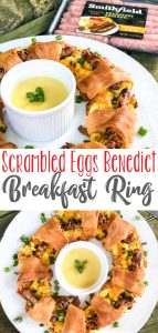 Quick and Easy Eggs Benedict Breakfast Ring