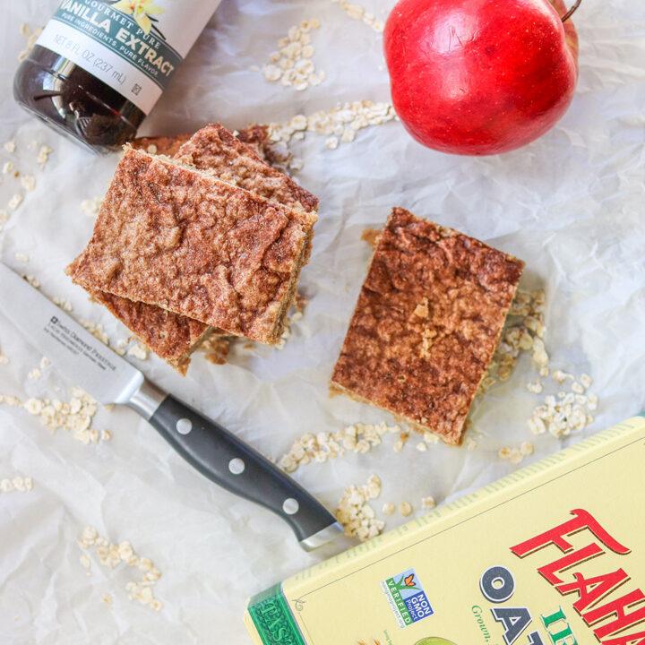 Apple Cinnamon Oat Bars