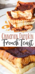 Cinnamon Pumpkin French Toast