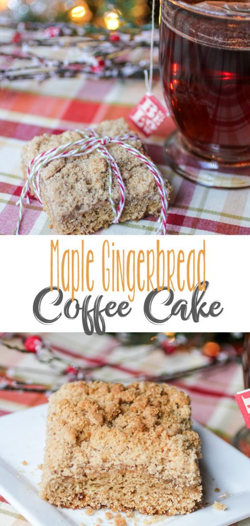 Maple Gingerbread Coffee Cake
